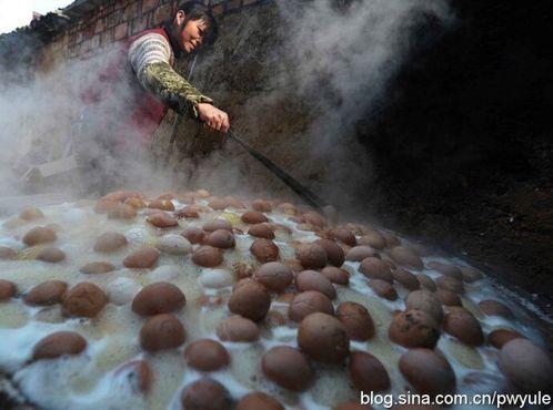 Яйца, варящиеся в моче