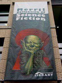 Баннер на стене крыла Лиллиан Смит в Публичной библиотеке Торонто