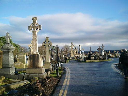 Одна из дорожек кладбища Миллтаун