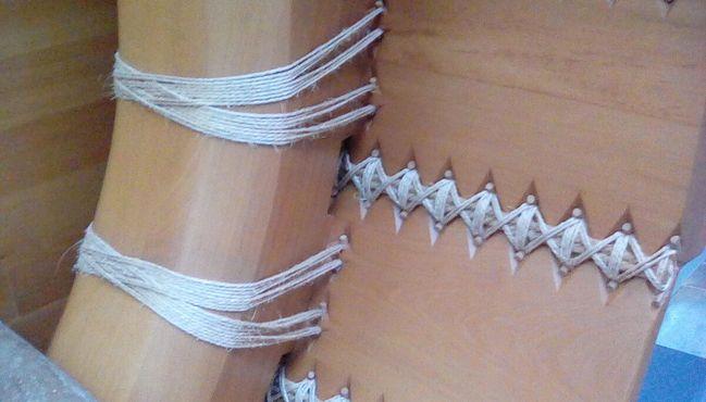 Реконструкция поперечного сечения на греческом судне, показывающая детали конструкции