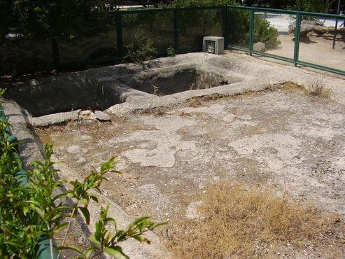 Винный пресс в саду Гат в Тель-Авиве