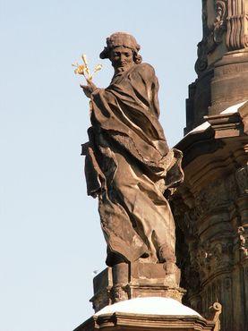Статуя Святого Яна Саркандера на колонне Святой Троицы