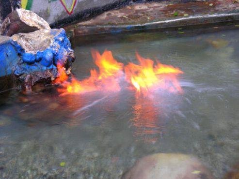 Горение огненного пруда