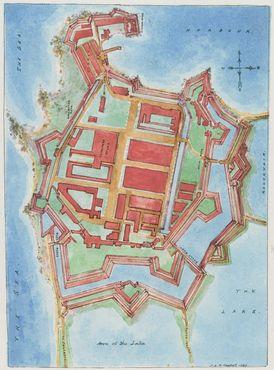 Копия старейшей карты форта Коломбо, 1888 год