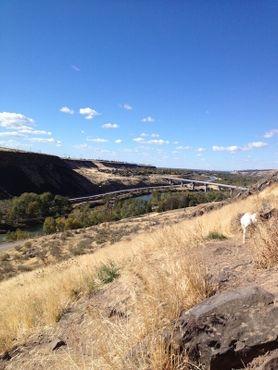Вид на реку Бойсе с вершины Чёрных утёсов