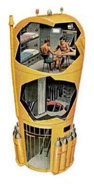 Изображение глубоководного жилища проекта«Преконтинент-2»