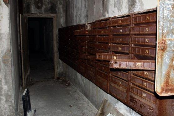 Заброшенные почтовые ящики в Припяти