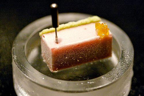 Замороженная клубника с васаби
