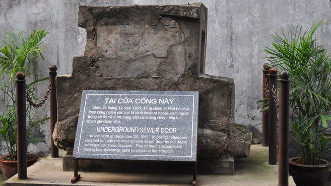 Фрагмент канализации, через которую сбежали пять заключенных, чтобы присоединиться к коммунистическому сопротивлению