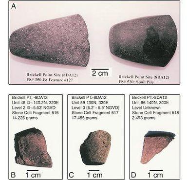 Неиспользованные каменные топоры, найденные при раскопках