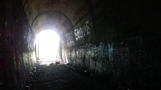 Восточный выход из туннеля в Клинтоне