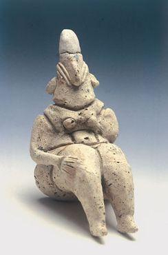 Одна из глиняных фигурок, найденных на месте