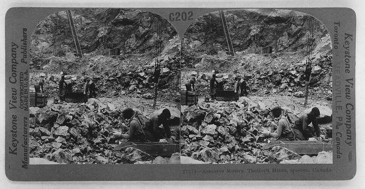 Работники асбестового рудника