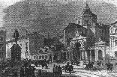 Монастырь Святого Духа на гравюре 1843 года