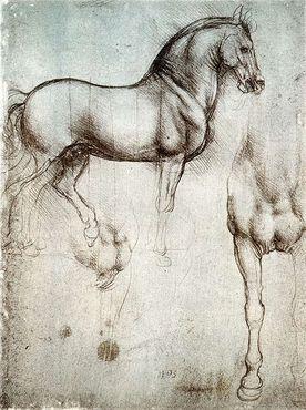 Эскизы скульптуры Коня Леонардо да Винчи