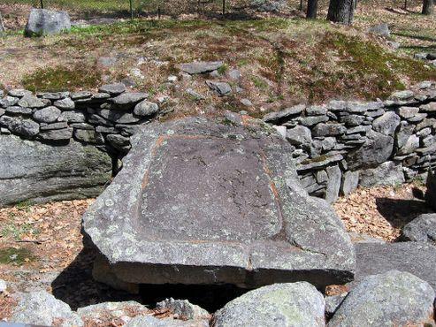 Жертвенный камень или пресс для производства сидра колониального периода