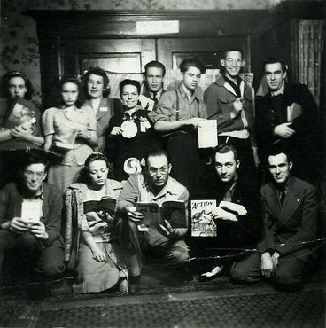 Групповой портрет LASFS примерно 1939 года. Фото Энди Портера