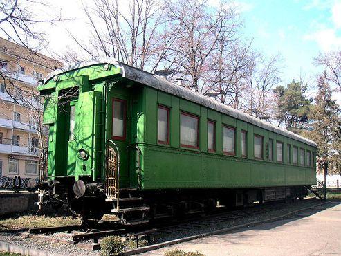 Личный железнодорожный вагон в Музее Иосифа Сталина в Гори, Грузия