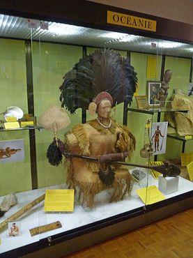 Этнографическая экспозиция с маркизскими/полинезийскими артефактами