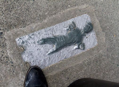 Дверной коврик с карбонитовым Ханом Соло