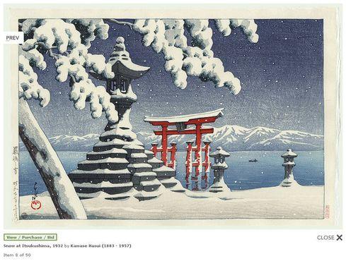 Знаменитая зимняя картина Хасуй, опубликованная в 1932 году