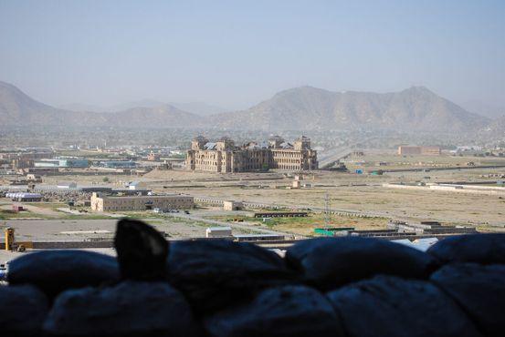 Вид на дворец Дар-уль-Аман
