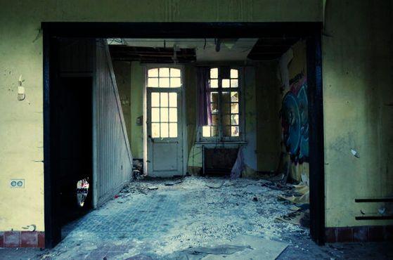 Внутри одного из домов
