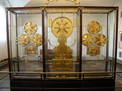 Вид спереди на астрономические часы