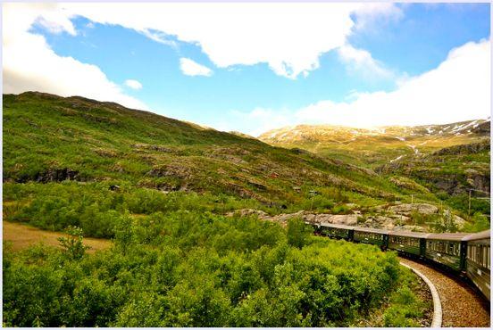 Фломская железная дорога в Норвегии