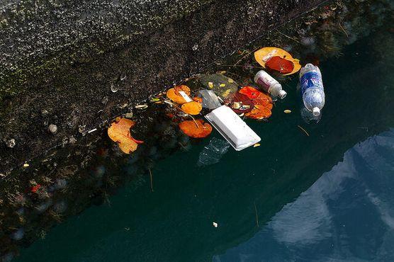 Мусор в ожидании быть унесённым в море на Бермудах