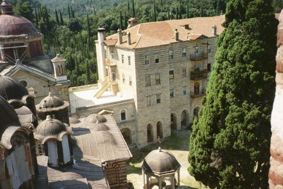 Колокольня монастыря Зограф