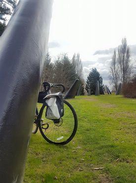 Косатка и велосипед