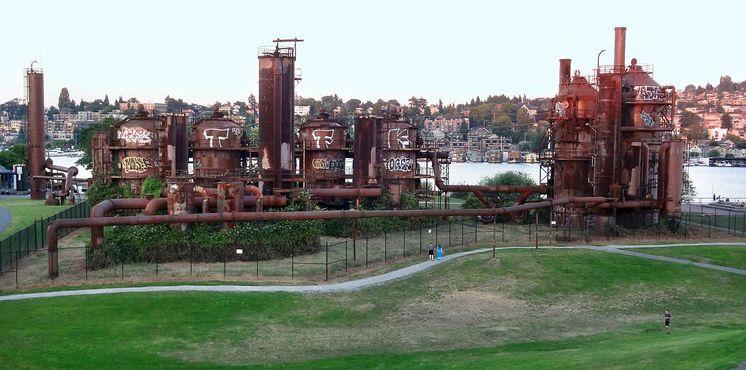 Старый газовый завод в парке Гас-Уоркс, Сиэтл