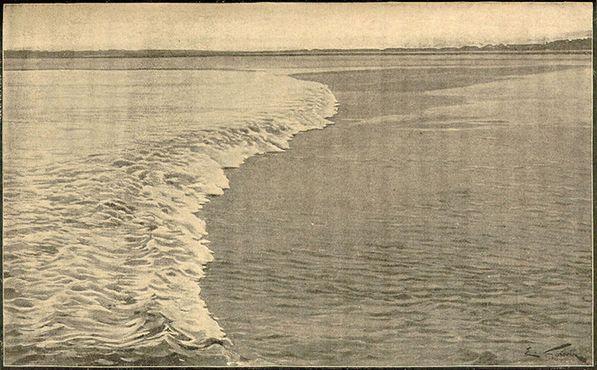 Приливной бор на реке Птикодьяк в 1902 году