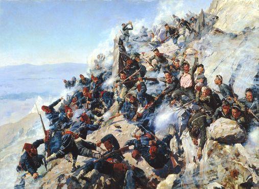 Битва на Шипкинском перевале в августе 1877, во время русско-турецкой войны (1877–1878)
