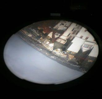 Вид на Эдинбург через камеру-обскуру