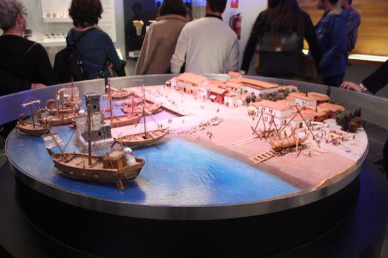 Модель Картахенского порта в его финикийский период