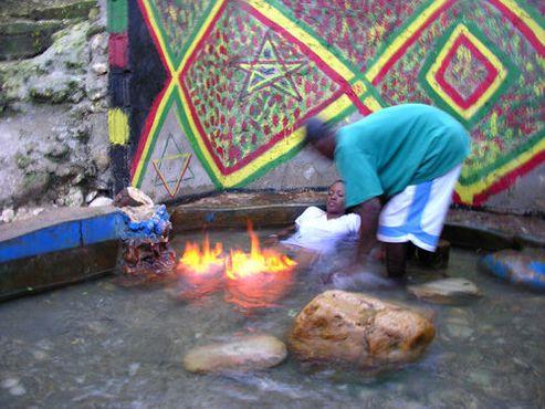 Искупайтесь для исцеления в огненном пруду