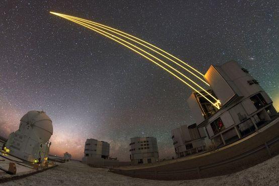 Настоящий Очень большой телескоп в действии