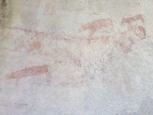 Один из натуралистичных наскальных рисунков
