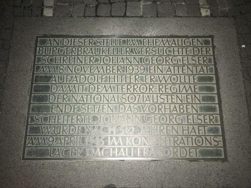 Мемориальная доска памяти Георга Эльзера
