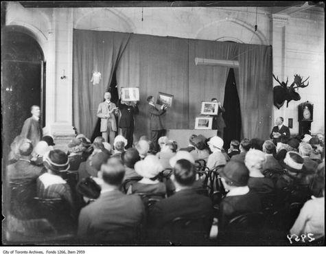 Аукцион картин в Каса Лома, 1920 год