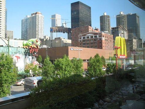Вид с озеленённой крыши