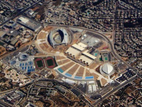 Вид с воздуха на Олимпийский стадион в Афинах