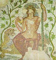 Бог Дионис в греческой мозаике