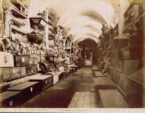 Фотография катакомб до 1911 года