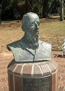 Бюст Джона Медли Вуда в Дурбанском ботаническом саду