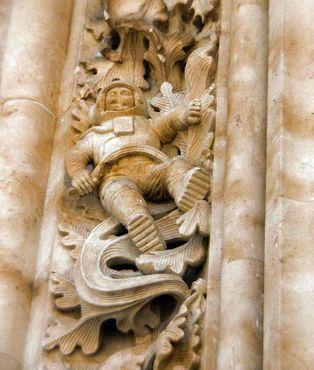 Астронавт на соборе Саламанки