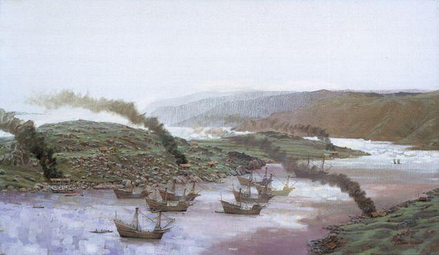 Корабли басков в Рэд-Бэй