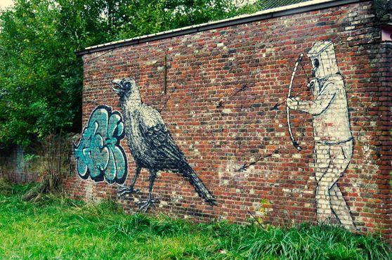 Граффити «Охота на ворон»